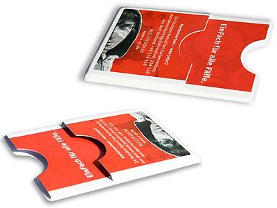 Plastikkartenhülle Doppel mit Zusatzfach